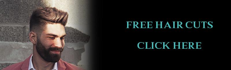 Free Hair cuts banner