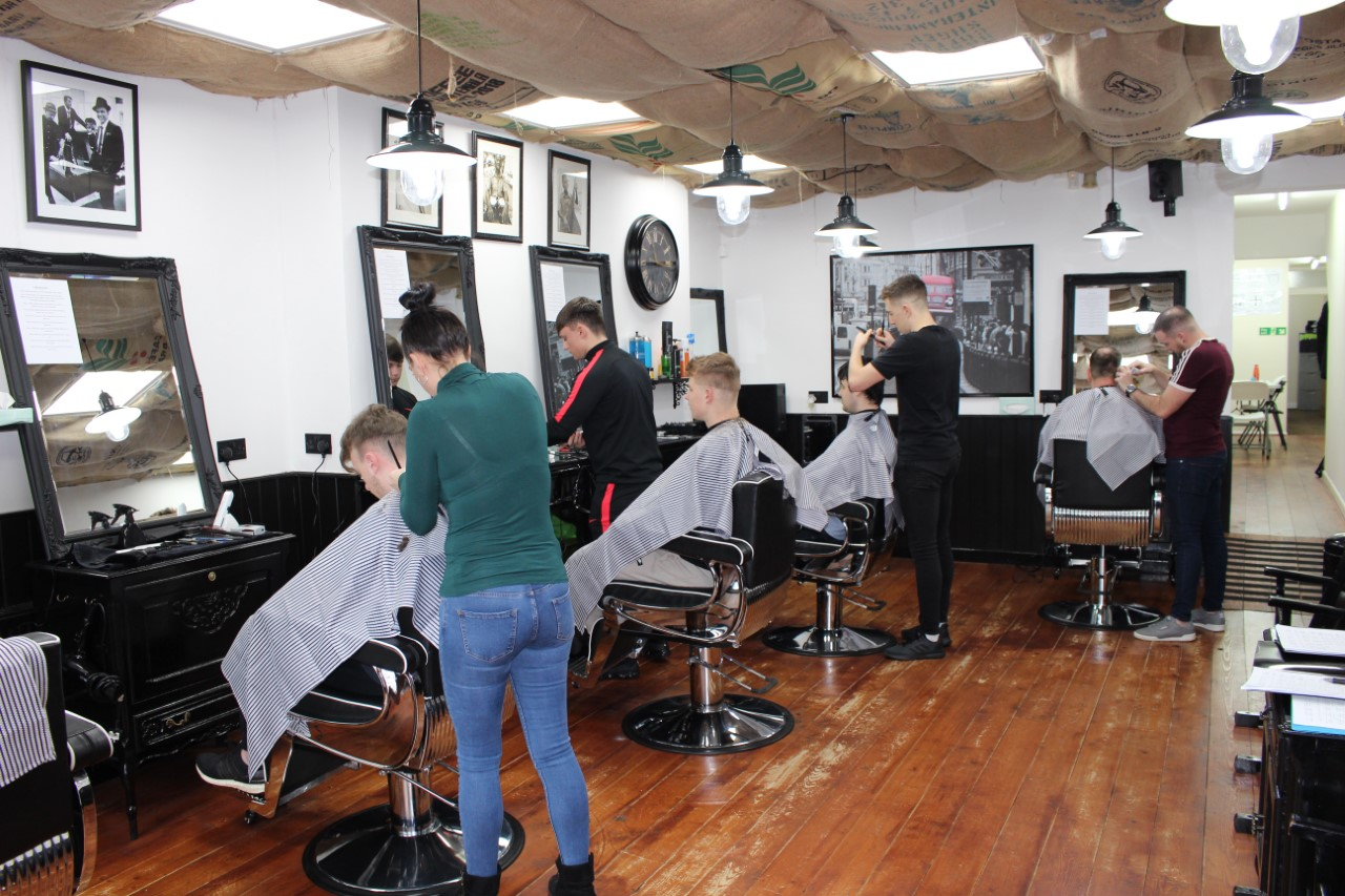 Thomas LLoyd Barbering academy Students
